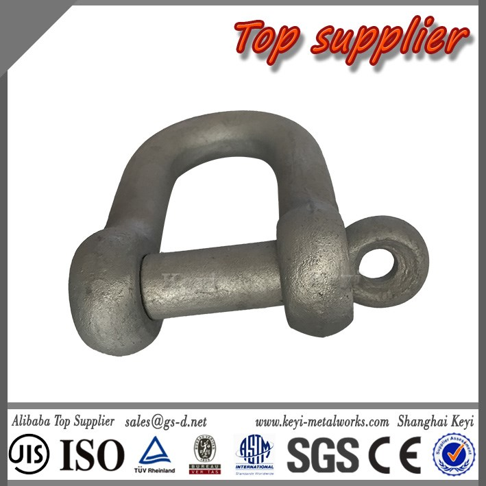 Certified Factory Best Quality Logo Printing Convinient Assembly Forged Stainless Steel D Shackle