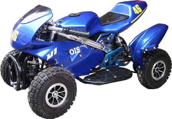 Cheap gas four wheelers powered atv 50cc for kids