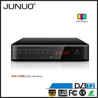 JUNUO shenzhen manufacture OEM quality FTA HD mpeg4 digital terrestrial tv decoder set top box dvb-t2 Austria