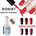 RONIKI Factory Private Label Classic Color Long Lasting OEM Soak Off Uv Gel Sweet Color Nail Polish Brands