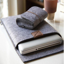 In stock Recycled wool felt laptop sleeve case for 15.6