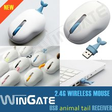 2012 New 2.4G Mini Wireless Mouse animal tail receiver