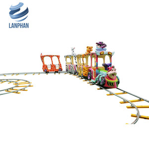 Amusement Theme Park Electric Wegon Kids &Adult Electric Train with Smoke and Steam