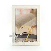Hot selling modern religion cross metal picture photo frame