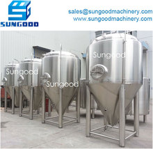 Glycol Jacket Conical Fermenter for beer brewing system equipment