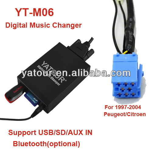 Yatour Vcarlink Car radio MP3 interfaces player for Peugeot/ Citroen RD3>Car audio USB/SD/AUX/Bluetoot kit