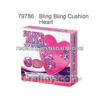 Arts & crafts kit Design your Bling Bling Cushion Heart