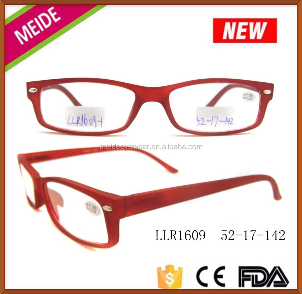 low price fancy fashion high grade quality eyewear frames plastic long temple design, hot sale reading glasses