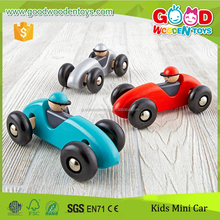 Top Quality Beechwood Made 4 Wheels Car Colorful Wood Racing Car with Cheap Price