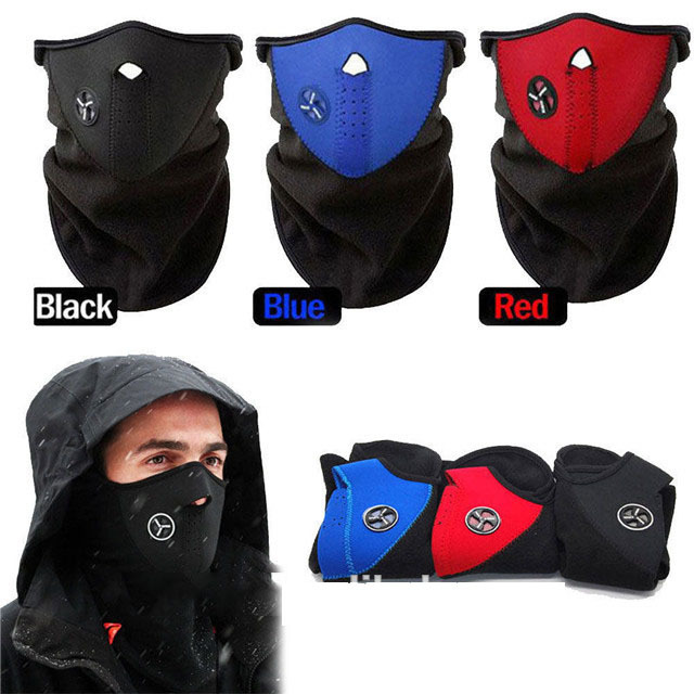 Unisex anti air pollution motorcycle neck mask winter training face shield mask