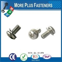 Taiwan M3 M12 M6-1.0 x 20mm DIN 965 Phillips Drive Flat Head Grade A2 Stainless Steel Machine Screw with Hex Double Lock Washer