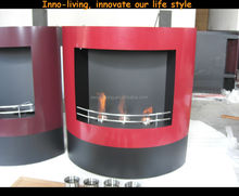 on sale wall mounted fireplace red stainless steel white indoor alcohol heater