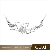 Guangzhou OUXI Fashion Jewelry S925 Silver Love Heart Necklace