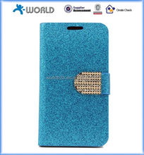 Luxury Wallet Flip Magnetic Glitter Coated Bling Rhienstones Diamonds Leather Case Cover for Samsung Galaxy S5 i9600