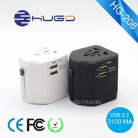 Best seller Multi-color 3.1A Dual USB travel Charger adapter for iPhone/iPad
