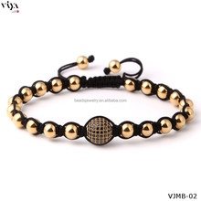 Charm Luxury 18K Gold Jewelry Classic Chinese Knot Bracelet Latest Summer Men Bracelet