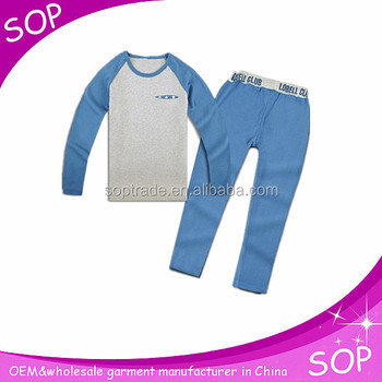 Blue tight kids training suits wholesale
