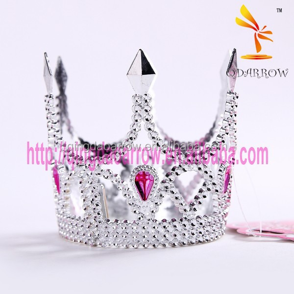 Best Sell Birthday Party Mini Plastic Tiara Crown for Girls