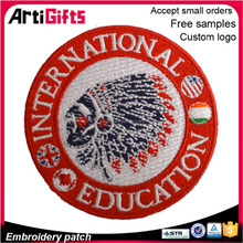 High quality heat seal backing embroidery badges