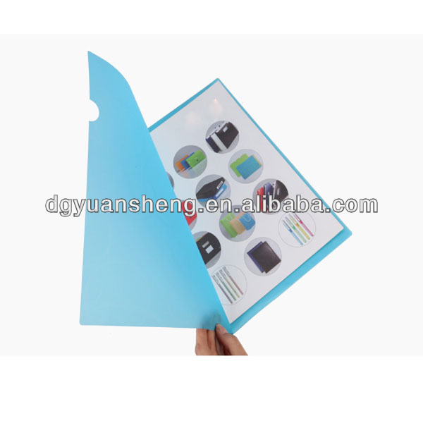 spine bar plastic file folder with sleeves a4