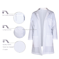 Waterproof Certificated Widely Used Unisex Lab Coat
