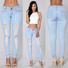 HT-WJP 2017 Hot Sale Latest New Fashion Design Women Denim Jeans Pants For girl Girls Tight Jeans Pants