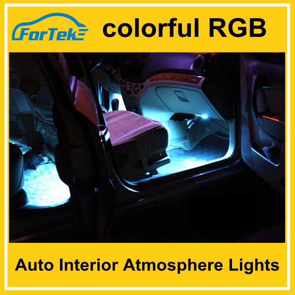 colorful 12V led auto Interior atmosphere Light with IR remote Controller