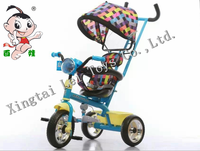 Wholesale exercise safety three wheel metal bicycle child tricycle,4 in 1 baby tricycle for kids music player with light