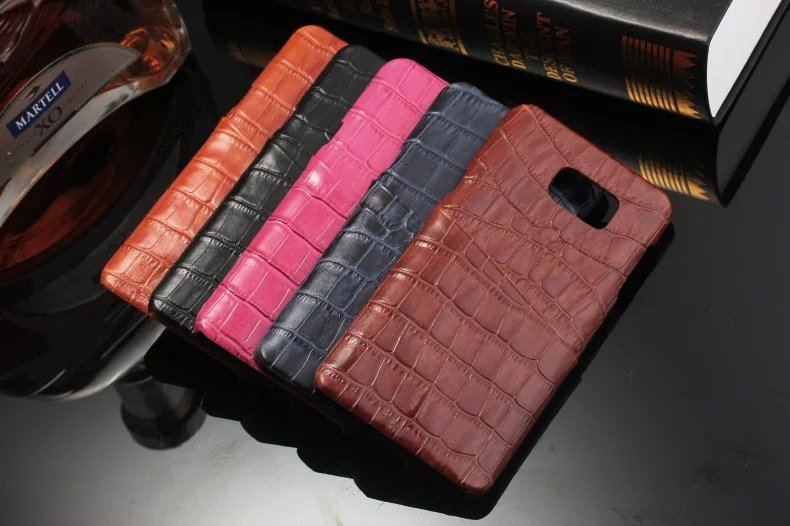 New design genuine leather back cover mobile phone case for samsung galaxy note 5 n9200 case real leather
