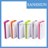 Multi-colors 5200mAh universal portable power bank for smartphone hot-selling wholesale portable charger