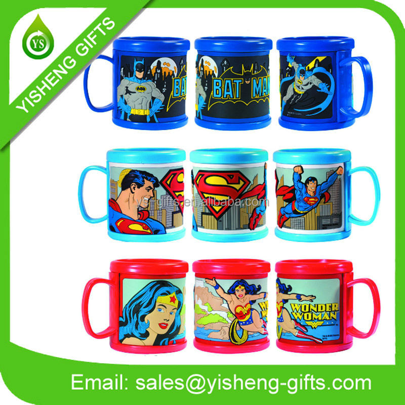 3D Cartoon Character Rubber Mugs
