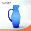 Classic 1700ml glass pitcher with color spray/simple design water cooler jug/mordern clear glass juice jug