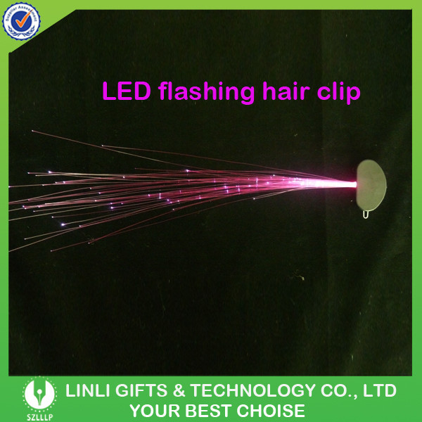 Colorful LED Lighting Party Glow Hair Accessories, Plastic Fiber Optic LED Lighting Party Glow Hair For Promotion Gifts