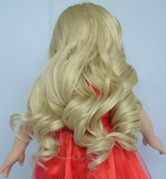 Alibaba express american girl doll wigs,journey girl doll wigs,pvc wigs for doll can accept custom