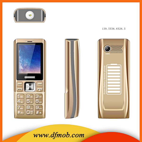 Big Battery Power Bank 2.4inch Screen Three SIM Card Gprs Quad Band GSM Big Torch Vibration Mobile Phone K3000