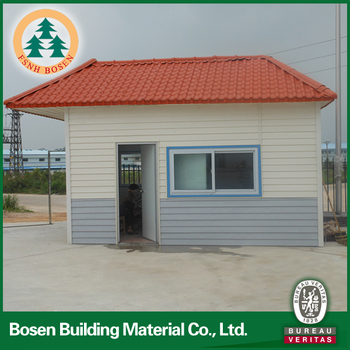 one floor cheap price prefab build security sentry box made in china for hot sale