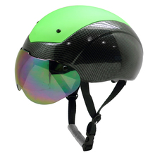 Cool Short-track Speeding Ice Skating Helmet with Removable Goggle