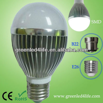 dimmable Low cost 7w E27 energy saving led light bulb