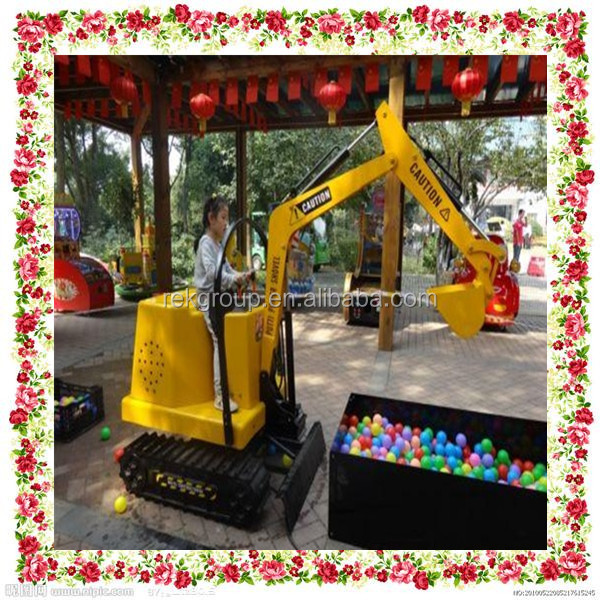 Shock resistant 360 degree rotating children electric excavator for sale with CE approved