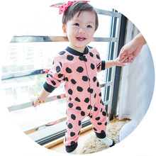 2016 crocheting baby romper dot printed baby clothes clothing