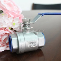 1 inch 2 inch stainless steel 304 316 ball vaive price /NPT female threaded end ball valve