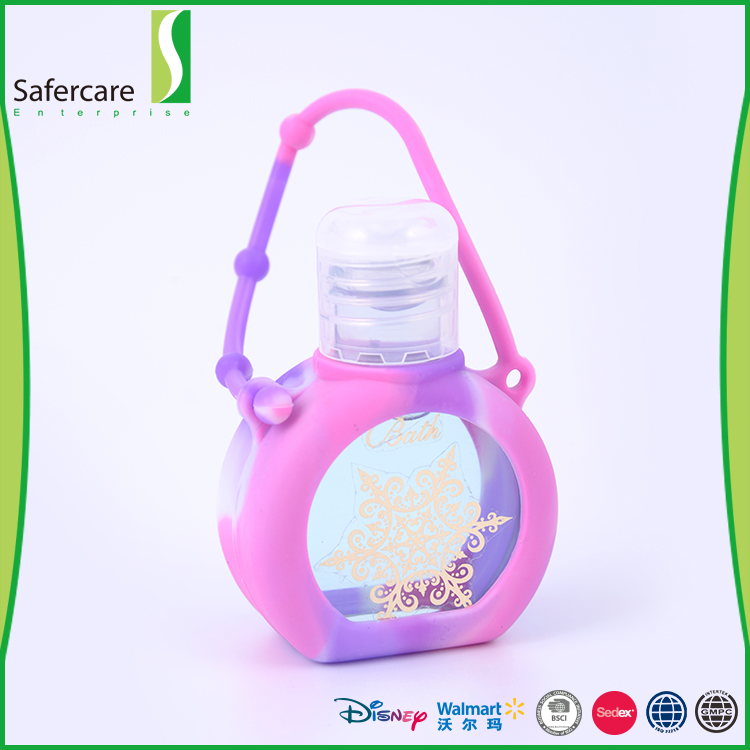Promotional gift cute travel waterless silicone holder hand sanitizer