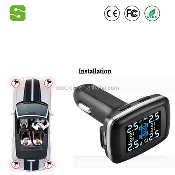 Smart Car TPMS Tyre Pressure Monitoring System charging Digital LCD Display Auto Security Alarm Systems