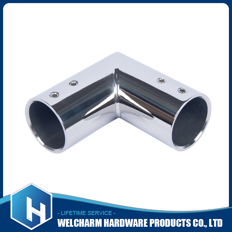 201 stainless steel 90 degree round tube corner connector/pipe corner connector