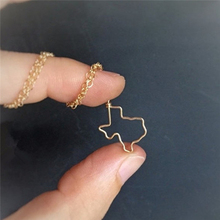 Wholesale trendy USA Map Texas State pendant Necklace Texas cowgirl Necklaces Wholesale American Small Texas Necklace