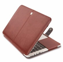 Newest waterproof Soft PU Leather Laptop Sleeve Case Cover For MacBook Air 11.6/12/13.3inch