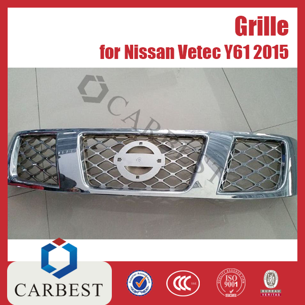High Quality New Chrome Grille for Nissan Vetec Y61 2015