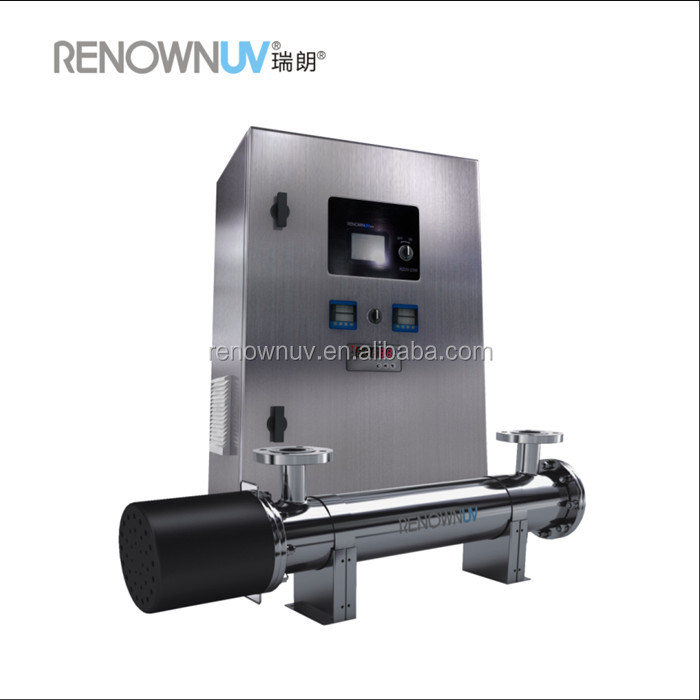 Ultraviolet lamp water sterilizer with automatic cleaning system