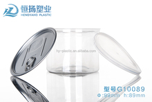 500ml plastic PET can snacks container