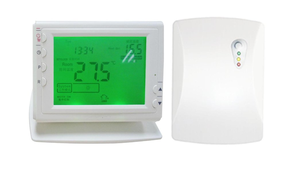 2015 New 868MHZ wireless weekly programmable boiler heating thermostat with shelf battery-powered